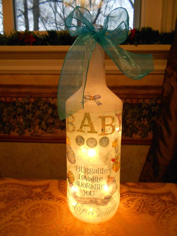 Lage lamper av flasker