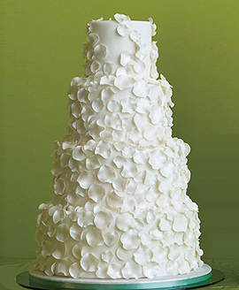 tiered-white-rose-petals-wedding-cake